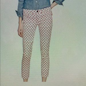 J.crew printed cropped matchstick jeans